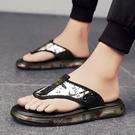 男士涼鞋外穿夏季2021新款潮流沙灘鞋軟底爆米花夾腳人字拖鞋防水 依凡卡時尚