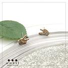 勝利之姿~勝利手勢造型滿鑽耳環708111/1色