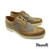 【marelli】英倫風拼接雕花鞋 咖啡 (30190-MBE)