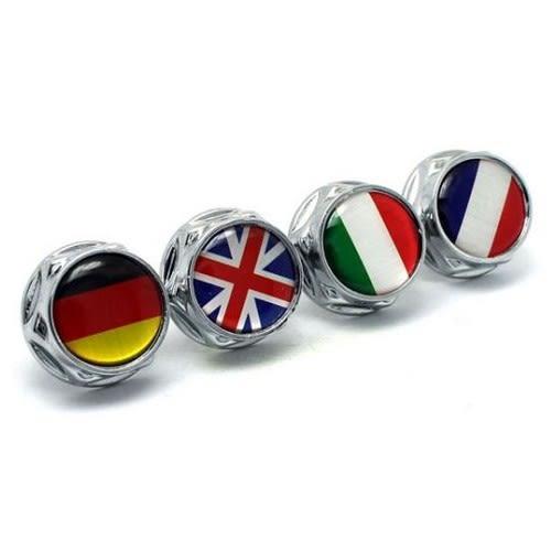 牌照螺絲 大牌螺絲 汽機車通用 德國 意大利 法國 英國 國旗 AUDI BMW BENZ VW MINI FORD 沂軒精品