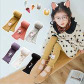 童裝 褲襪 內搭襪 刺繡動物 女童長褲襪 六色 寶貝童衣