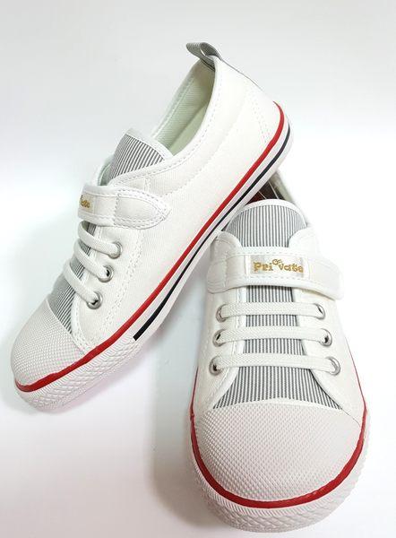 專櫃普萊米 private sport MIT 帆布鞋《7+1童鞋》A296白色