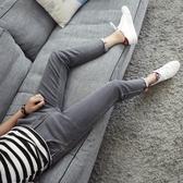 夏季彈力9九分牛仔褲男士韓版修身青少年小腳褲潮男裝薄款男褲子 初秋新品