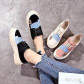 帆布鞋學生軟妹休閒女春夏季2019新款韓版百搭小白鞋 FR8418『俏美人大尺碼』