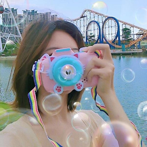 泡泡機 泡泡相機玩具女孩吹泡泡機兒童全自動少女心照相機補充液【快速出貨八折搶購】