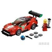 積木賽車系列75886法拉利488GT3ScuderiaCorsa車隊xw