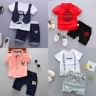 兒童夏裝套裝新品新款小童寶寶兒童夏季短袖外出服兩件套1-3周歲