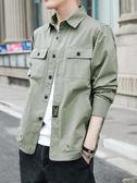 襯衫美式工裝襯衫男長袖潮流青年大碼外套男寬松春裝新款男士襯衣 金曼麗莎