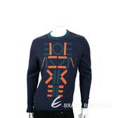 KENZO 藍綠色字母圖騰粗針織上衣 1540227-16