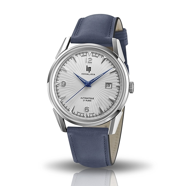 【lip】Himalaya質感太陽線真皮機械腕錶-紳士藍/671581*/台灣總代理公司貨享兩年保固