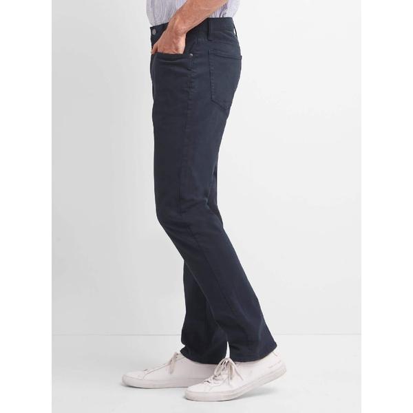 Gap男裝 時尚斜紋布修身長褲 720209-海軍藍
