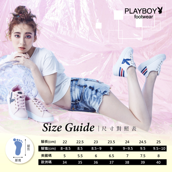 PLAYBOY 幾何圖案 仿皮綁帶休閒鞋-黑桃(Y5215)