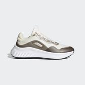 Adidas NEO PRIMROSE SLEEK 女款米白咖啡色運動慢跑鞋-NO.FZ3214