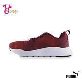 PUMA童鞋 男童運動鞋 WIRED 鞋帶 輕量運動鞋 童跑步鞋 記憶鞋墊 J9580#紅色◆OSOME奧森鞋業