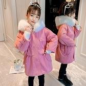 派克棉服女童外套女孩棉襖 潮流秋冬羽絨服羽絨外套 韓版外套中大童上衣 夾克外套兒童加絨棉服