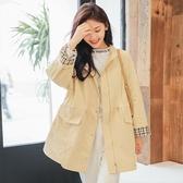風衣外套-中長款純色收腰簡約修身女大衣2色73ue6【巴黎精品】