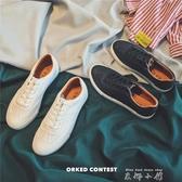 2019春季韓版新款運動板鞋低筒鞋男士休閒小白鞋時尚百搭潮流男鞋  米娜小鋪