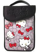 Hello Kitty SKN-522  精巧時尚平板電腦保護袋KT-蝴蝶結灰 7吋