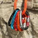 登山攀登鎖扣D型承重安全扣梨型攀巖主鎖戶外登山裝備 探索先鋒