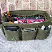 包中包 袋中袋收納包 麂皮綠色