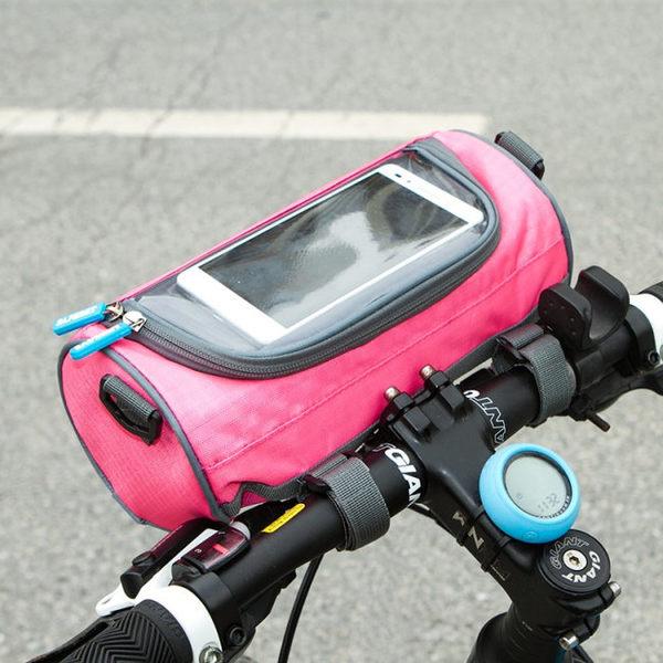 《SAFEBET》時尚亮彩多功能防潑水圓筒包/自行車包/單肩包/斜背包
