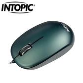INTOPIC 廣鼎 MS-099 飛碟光學滑鼠 綠
