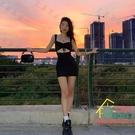 吊帶洋裝 Nibber 歐美夏季新品黑色吊帶鏤空性感短款包臀裙修身連衣裙女夏 限時折扣