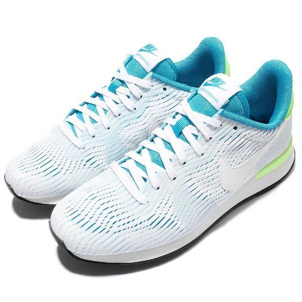 Nike 復古慢跑鞋 Wmns Internationalist EM 藍 綠 白 休閒鞋 女鞋【PUMP306】 833815-100