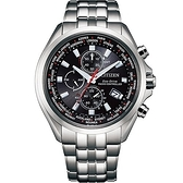 CITIZEN 星辰 AT8200-87E 光動能電波 萬年曆 三眼計時腕錶