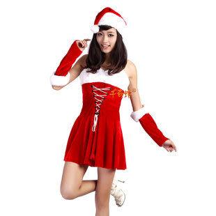 千奇坊服裝聖誕節-高檔女裙3件套270g 05款