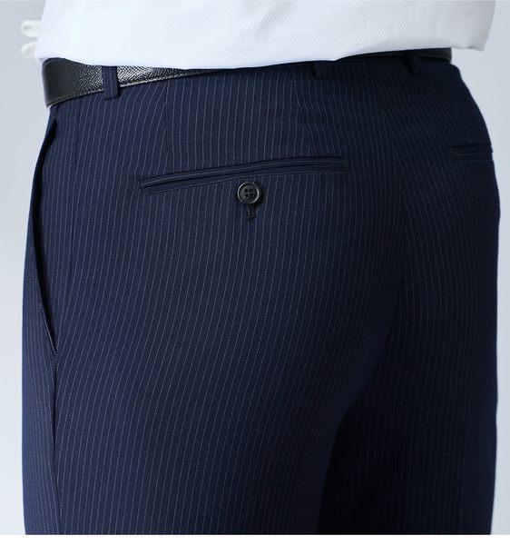 極品西服 都會商務菁英款彈力西褲_藍條(BW733-1)