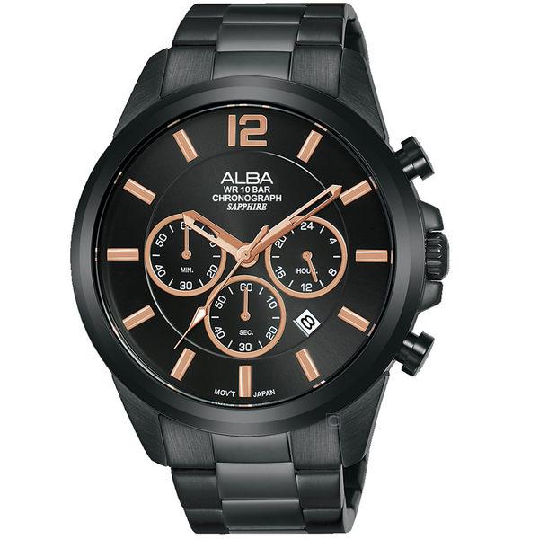 ALBA雅柏百搭潮流計時手錶  VD53-X352SD  AT3G39X1