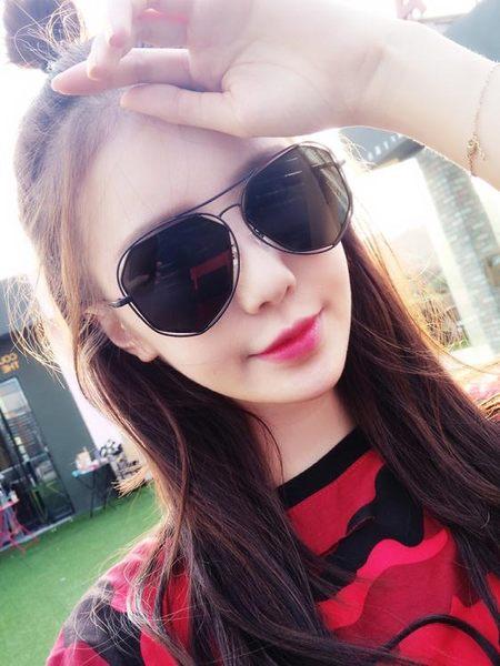 太陽鏡 日韓 墨鏡女韓版粉色太陽鏡 百搭 超值價