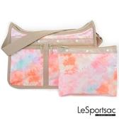 【南紡購物中心】LeSportsac - Standard雙口袋A4大書包-附化妝包 (迷幻珊瑚) 7507P F638