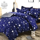AGAPE 亞加‧貝《藍色幽默》MIT舒柔棉雙人5尺四件式薄被套床包組