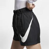 F-NIKE SPORTSWEAR SWOOSH 女裝 短褲 慢跑 訓練 梭織 透氣 黑 AR3015-010