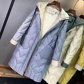 羽絨夾克-白鴨絨-針織連帽輕薄寬鬆女外套4色73zc12【時尚巴黎】