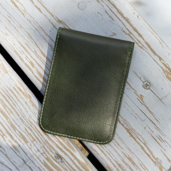 牛皮/證件套【CALTAN】扣式真皮識別證件套-075027cd綠