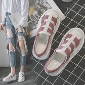 涼鞋小白鞋女春夏季新款韓版羅馬涼鞋平底休閒百搭透氣學生女鞋潮