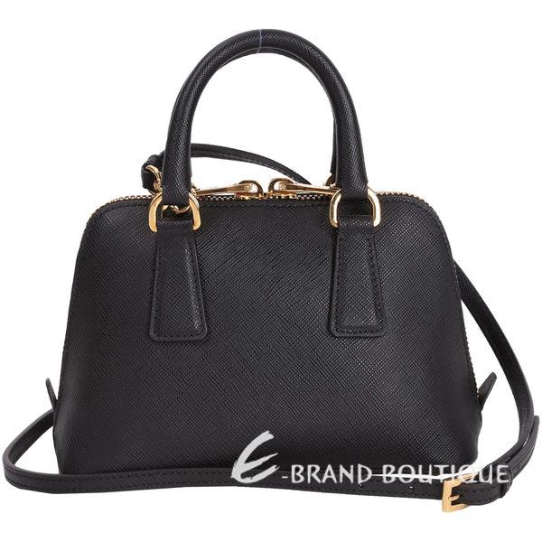 PRADA Saffiano 防刮牛皮貝殼包(Mini/黑色) 1620981-01