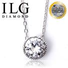 【頂級美國ILG鑽石】八心八箭項鍊-Love Crystal款-NC121 獨家單鑽設計