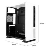 工匠5電腦機殼臺式機一體式家用辦公ATX中塔式側透游戲主機殼 此款不配風扇