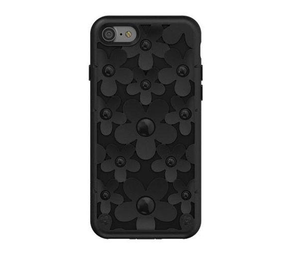 【漢博】SwitchEasy Fleur iPhone 7 3D花朵吸震防摔保護殼 - 黑