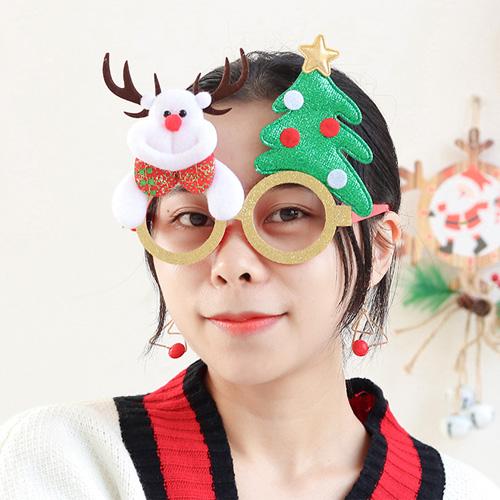 聖誕卡通眼鏡框 老人雪人小鹿眼鏡框