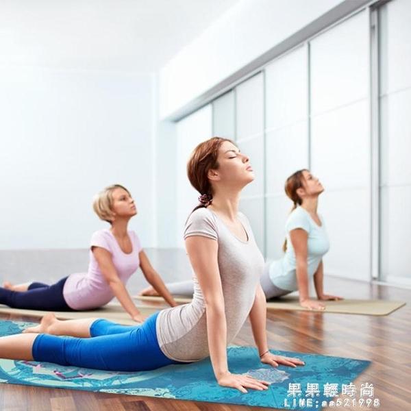 瑜伽墊 微瑕疵工廠清倉麂皮絨天然橡膠印花防滑健身高溫加厚瑜伽墊【果果新品】