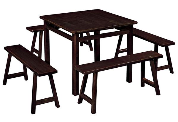 【森可家居】3.5尺長形椅條 8JX524-6 復古中式 木長板凳