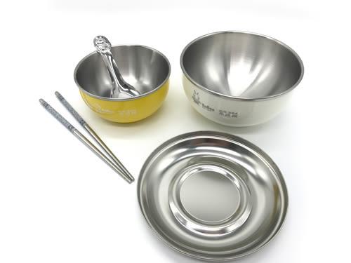 【好市吉居家生活】寶石牌 Y-206SS 香醇不鏽鋼隔熱碗兩入組 304不鏽鋼 (附不鏽鋼蓋.餐具)