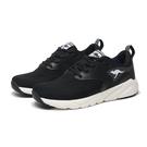 KANGAROOS 休閒鞋 RUN SWIFT 黑白 網布 超輕量 慢跑 女 (布魯克林) KW11011