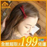 ✤宜家✤韓版頭飾-布藝蝴蝶結髮夾 瀏海夾 髮飾 鴨嘴夾