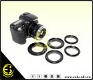 ES數位館 Canon EOS 卡口鏡頭倒接環 反裝接環 微距r拍攝倒接環 微距接寫環 特寫 倒接環